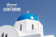 Iconic church with blue cupola Stock Illustration