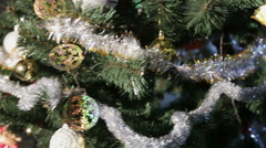 Christmas tree in office Stock Footage