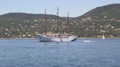 LARGE SAILING BOAT, ST TROPEZ Stock Footage