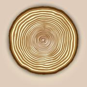 Vector wood texture background with tree rings Piirros