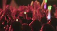 Crowd cheering live concert Stock Footage