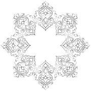 Artistic ottoman pattern series seventeen Stock Illustration