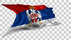 Flag of Serbian Krajina Stock Footage