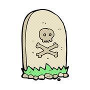 Stock Illustration of comic cartoon grave