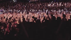Live concert crowd amazing Stock Footage
