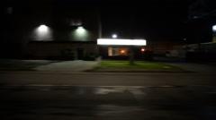 Driving Plates Night S05C01 CAM4 R View 01 Venice and La Cienega Blvd LA Stock Footage