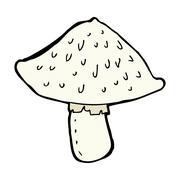 comic cartoon wild mushroom - stock illustration