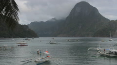 El Nido bay with limestone cliffs, Palawan, Philippines Stock Footage
