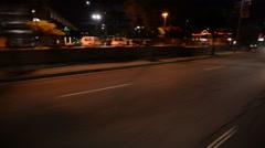Driving Plates Night S05C02 CAM6 Three Quarter L View Venice and La Cienega B Stock Footage