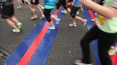 Turkey Trot 10k race. Granville Island Vancouver BC Canada Stock Footage