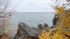 Baikal windy Stock Footage