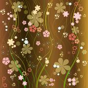 Stock Illustration of floral vector background eight