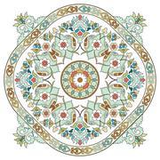 Artistic ottoman pattern series three Stock Illustration