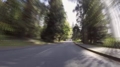 Time Lapse of a drive through Stanley Park, Vancouver, BC Stock Footage