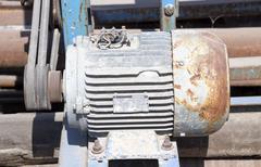 electric motor - stock photo