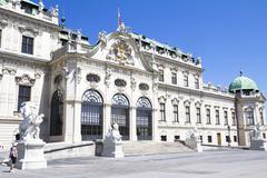 The Belvedere Castle in Vienna - stock photo