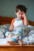 Cute little boy in pajamas Stock Photos