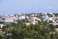 Cityscpe of Mogadishu Capital city of Somalia Stock Photos
