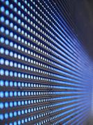 blue LED screen - stock photo