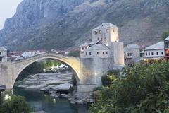 Mostar old bridge, Bosnia and Herzegovina. Stock Photos