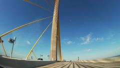 Sunshine skyway bridge Tampa st. petersburg florida Stock Footage