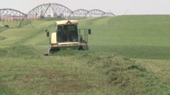 Swather Close Shot - stock footage