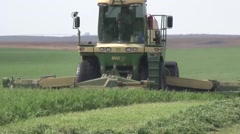 Swather Close Left Side Shot Stock Footage