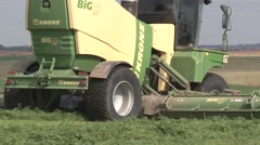 Swather Rear View Stock Footage