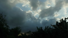 Stormy sky in tropical countryside Stock Footage