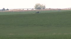 Swather Wide Shot Stock Footage