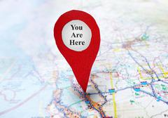 you are here locator - stock photo