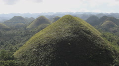 Chocolate Hills, Bohol, Philippines, close up at a hill - stock footage