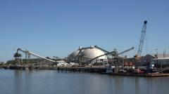 Industrial plant on savannah river, ga, usa Stock Footage