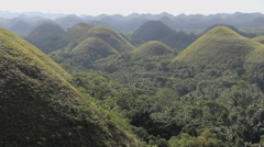 Chocolate Hills, Bohol, Philippines Stock Footage
