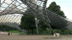 Stadium of the Olympiapark in Munich, Germany Stock Footage
