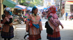 Street in Vietnam traditional culture - stock footage