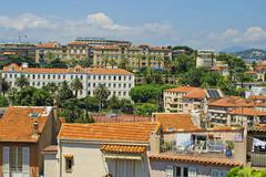 Panoramic view of Cannes city, France - stock photo