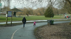 Vancouver City park Stock Footage