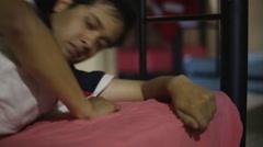 Young paramedics sleep Stock Footage