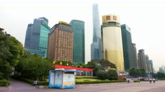 4K, UHD, Skyline in Pudong District, China, BlackMagic Production Camera Stock Footage