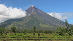Volcano Mount Mayon, Legazpi, Philippines Stock Footage