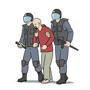 Arrest - stock illustration