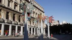 Painted palms MuseoNacional de Arte, La Habana, Havana, Cuba Stock Footage