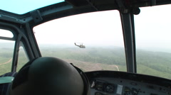 Huey gunship POV - stock footage