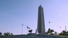 Plaza de la Revolución, Monument to Jose Marti, Havana, Cuba Stock Footage