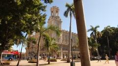 Centro Asturiano, Old Havana, Cuba Stock Footage