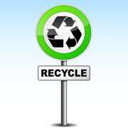 recycle signboard - stock illustration