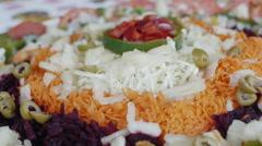 Cuban food served on table Stock Footage