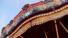 Rotating Carousel at the Fair Stock Footage
