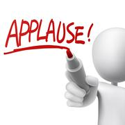 Stock Illustration of applause written by a man
